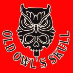 Old Owls Skull Tattoo
